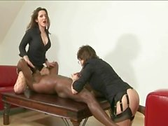 British lady and her friend fuck BBC