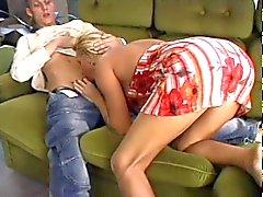 Hot blonde milf sex with skinny guy