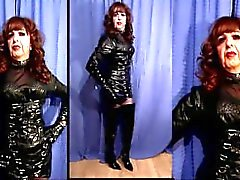 crossdresser pvc slut tranny puttana