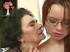 Very old granny loves young girl