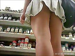 nice girl shopping undies upskirt