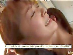 asiático mamada corrida lindo paja