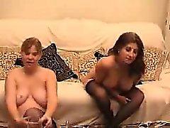 amatör blondin brunett lesbisk