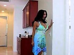 Very sexy naughty brunette step mom