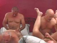 Mature men orgy