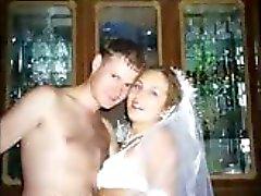 amateur bruid vriendin lingerie drietal