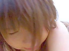 asiático mamada peludo
