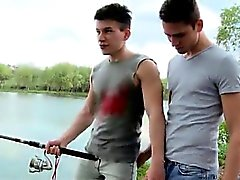 Hairless teen gay couple has sex Fishing For Ass To Fuck!
