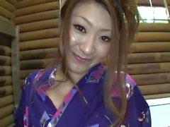 esmer asya açık havada kimono japonya
