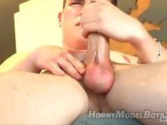 Horny model masturbation