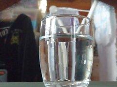 Cum in glass water