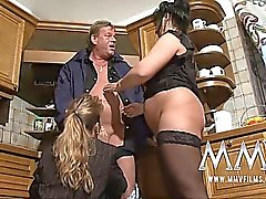 Two mature wives sharing your cock is always better than