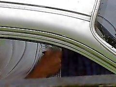 masturbatie wanking publiek auto cum shot