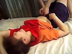 asiático mamada digitación peludo japonés