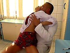 Cute girlfriend anal squirting