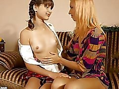 Flower Lovers by Sapphic Erotica lesbian love porn with Minerva Liona