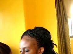 Passionate African lesbians lovers