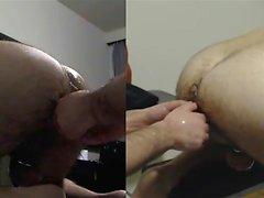 Sir training my hole with his fist, xxxl plug , bullet dild