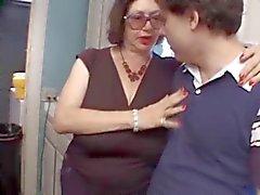 Granny Big Bertha Sucks off 2 Young Guys