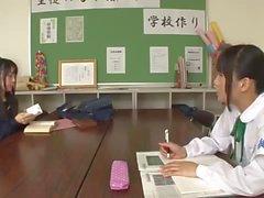 Hot Futanari Teacher Surprises Students