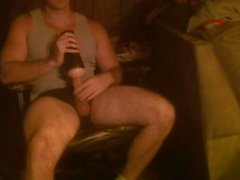Guy Masturbates Dick with Fleshlight Toy & Hand