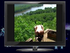 Naked ass flashing along the Mississippi by Mark Heffron