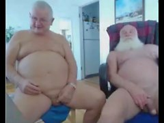 two grandpa on cam