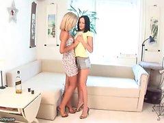 blondin brunett lesbisk teen leksaker