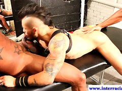 BDSM muscled amateur interracial banging
