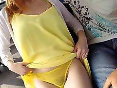 gros seins blond pipe hardcore de plein air