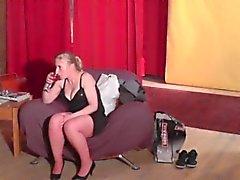 dilettante brunetta colata hardcore calze
