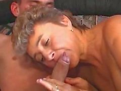 Mature bitch fucked in fishnet stockings
