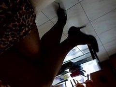 croise et decroise en jupe panthere