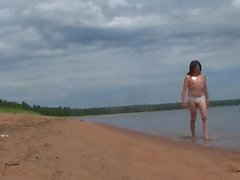 Nude hike on a beach in the Apostle Islands by Mark Heffron