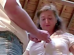 big boobs blowjob brünett fett fingersatz