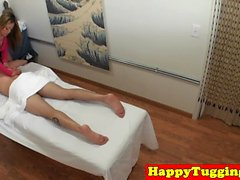 Perfect asian masseuse sixtynines her client