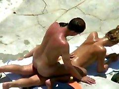 strand publieke naaktheid voyeur