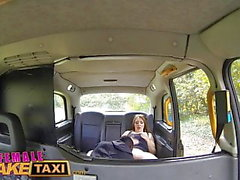 Female Fake Taxi Naughty cab driving chick fucks big cock
