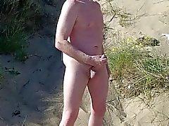 exhibitionist scottish showing on beach