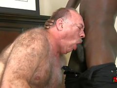 Hot hairy daddy and black boy