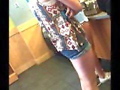 rubia de adolescente rubio de adolescencia corta -shorts shorts alto
