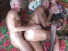 biseksuelen hoorndrager trio
