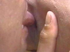 Kissing the tranny outdoors