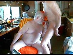 daddy suck grandpa on webcam