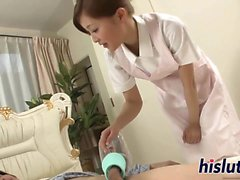 Sucky sucky session with a Japanese nurse
