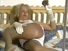 granny nylon fetish wank