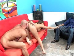 Claudia Valentine is a Latina MILF with a curvy body,...