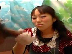 amatööri aasialainen suihin runkkaus