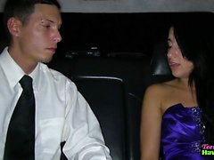 Prom teen fucked in limo