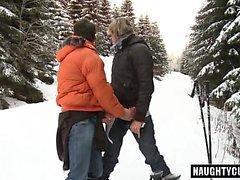 Big dick daddy public sex and facial